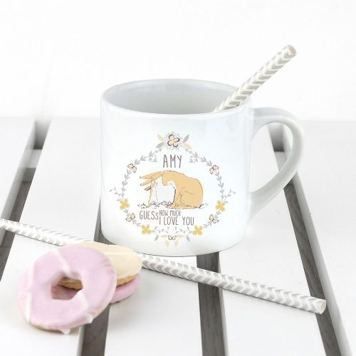 Personalised Guess How Much I Love You Wreath Babyccino Mug